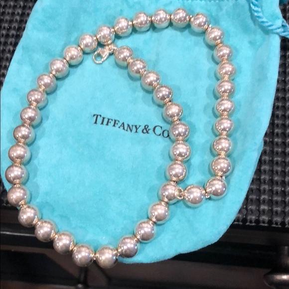 Tiffany Co Jewelry Tiffany Co Sterling Silver Bead Necklace Poshmark